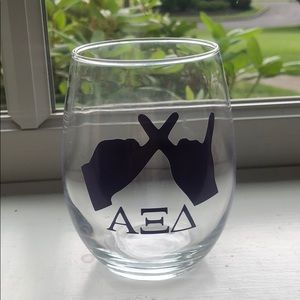 Other - Alpha Xi Delta Stemless Wine Glass